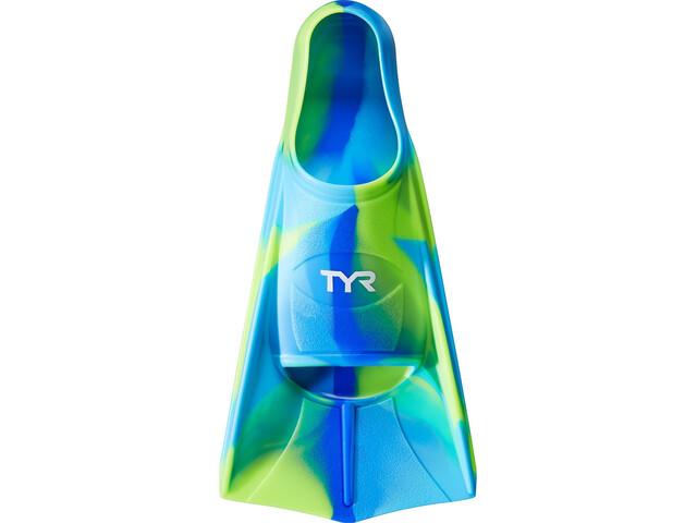 TYR Stryker Silikon-Flossen XXS Kinder blue/green